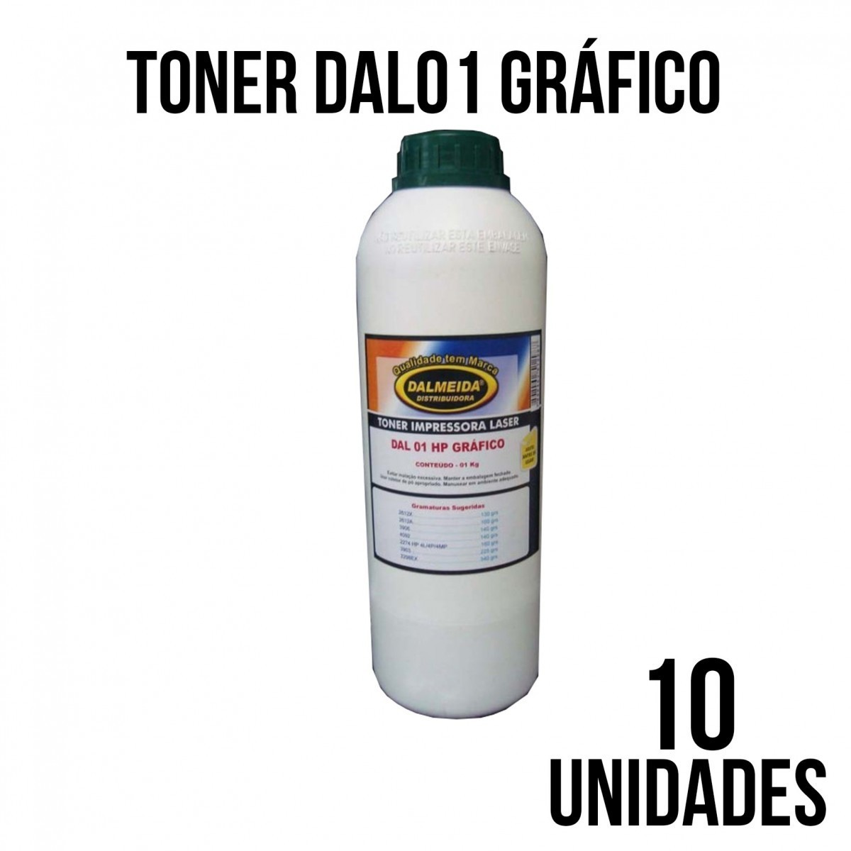 TONER DAL 01 HP GRAFICO - COMBO COM 10 KILOS