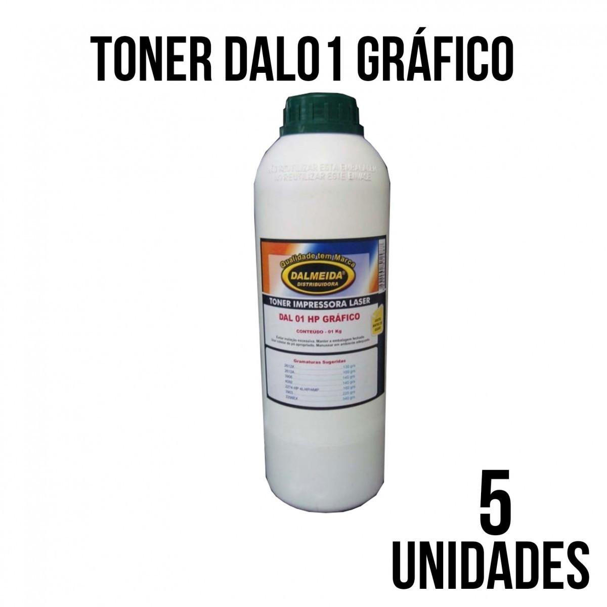 TONER DAL 01 HP GRAFICO -COMBO  COM 5 KILOS