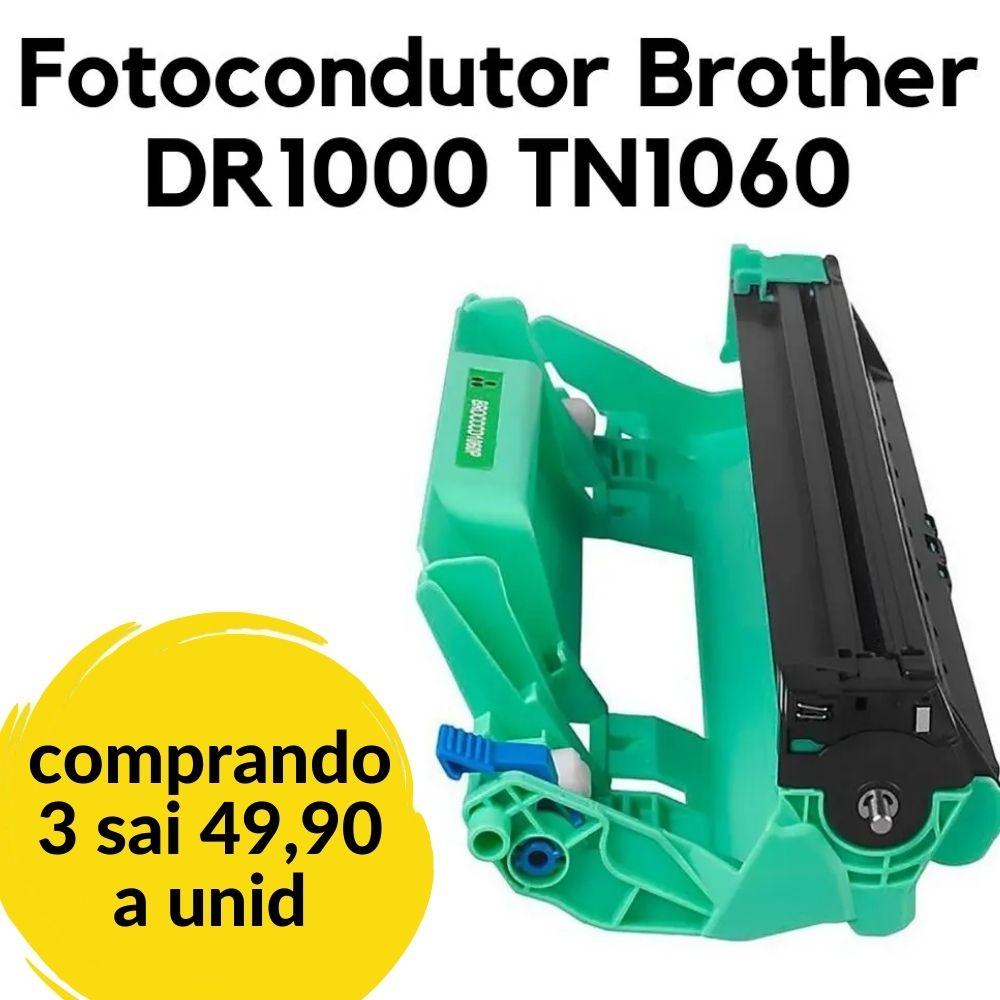 FOTOCONDUTOR BROTHER DR1000 1060 HL1110 HL1110E HL1202 1210W HL1112 HL1212 DCP1510 DCP1617 DCP1602 COMPATÍVEL 10 K