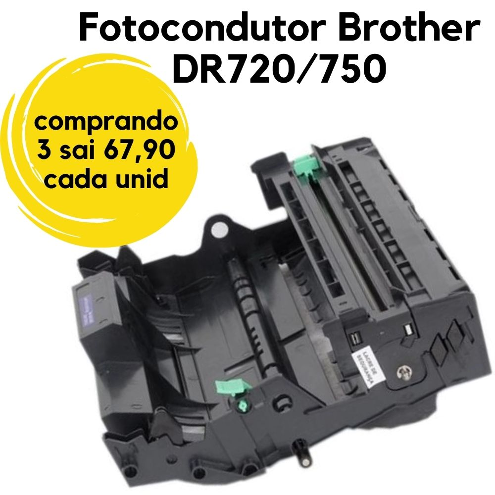 Fotocondutor Brother TN 750 \ 720 TN750, TN 750, DR-3300, DR-3302, DR3302, TN-3382, TN3332, 3350, 3355, 720, 51J, 5440, 5450, 5452, 5445, 5470, 5472, 6180, 6182, DCP-8110, 8112, 8150, 8152, 8155, 8157