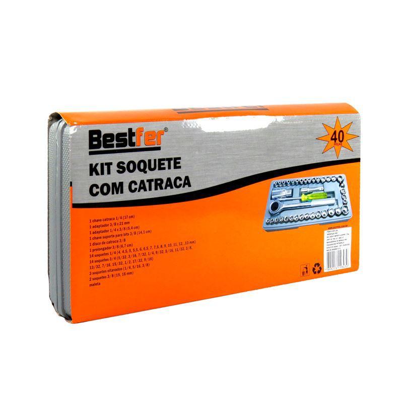 KIT SOQUETE COM CATRACA 40 PEÇAS