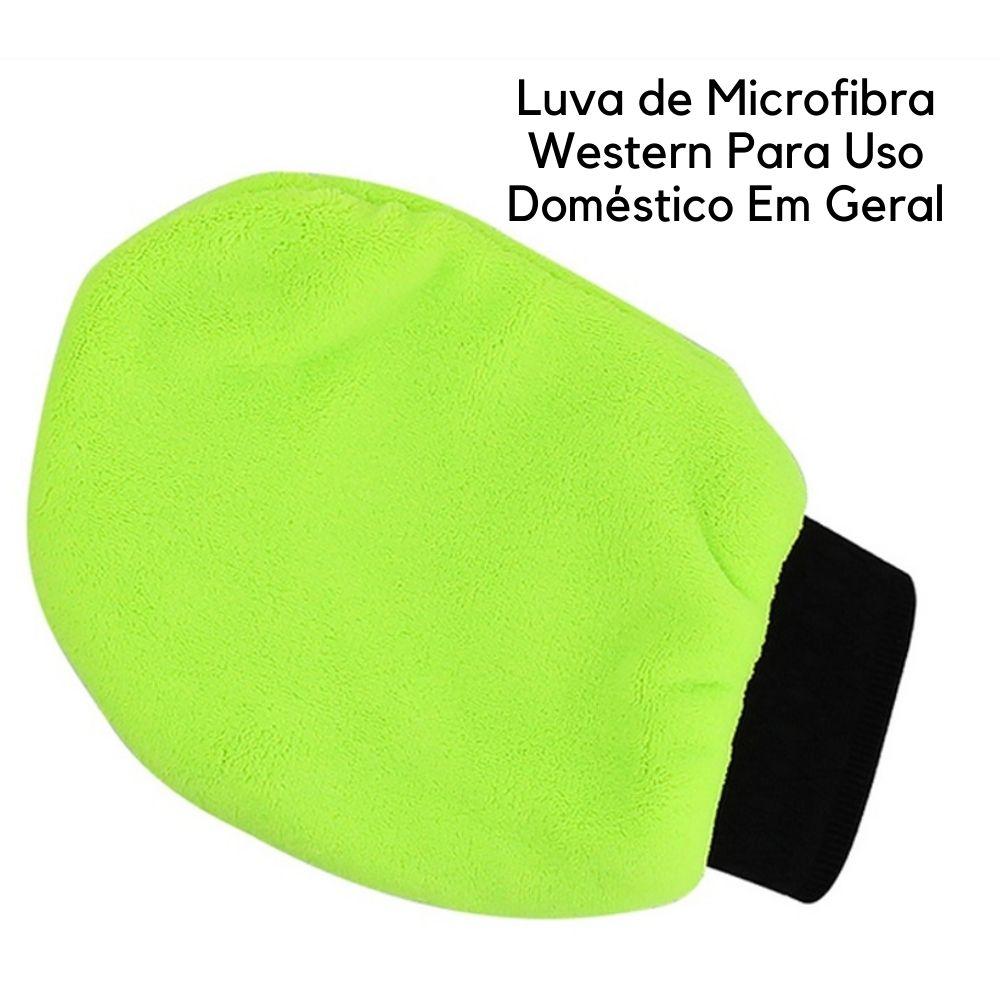Luva de Microfibra Western Para Uso Doméstico Em Geral