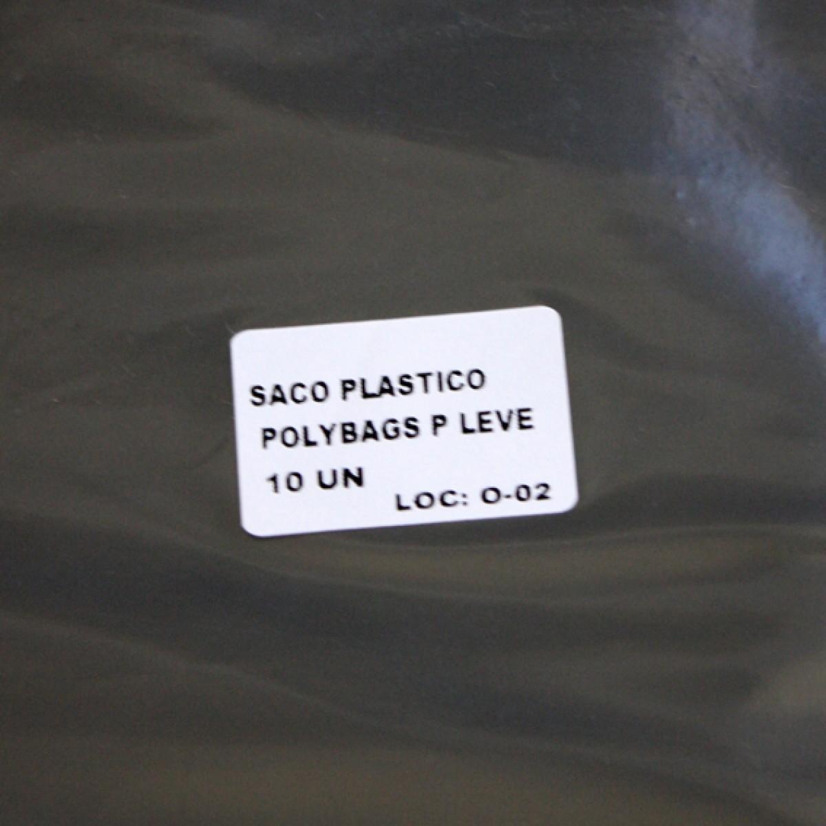 SACO PLASTICO POLYBAGS P LEVE COM 10 UNIDADES