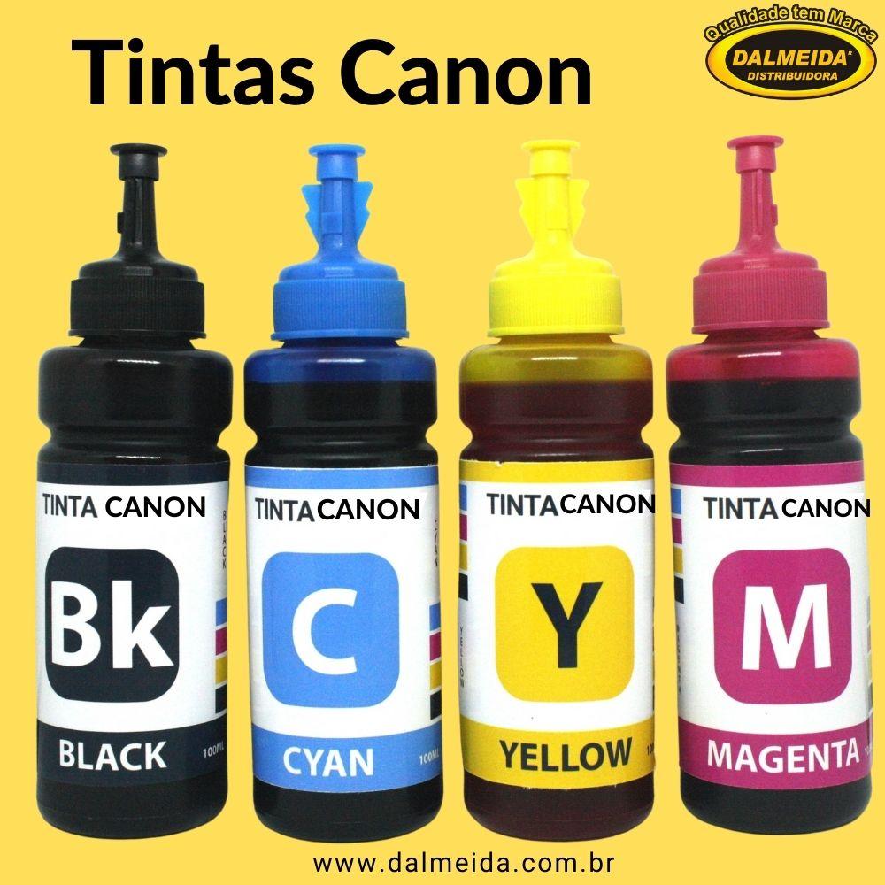 Tinta Canon G1100 | 2100 | 3100 | 3110 | 3111 GI190 100ml Cada Cor