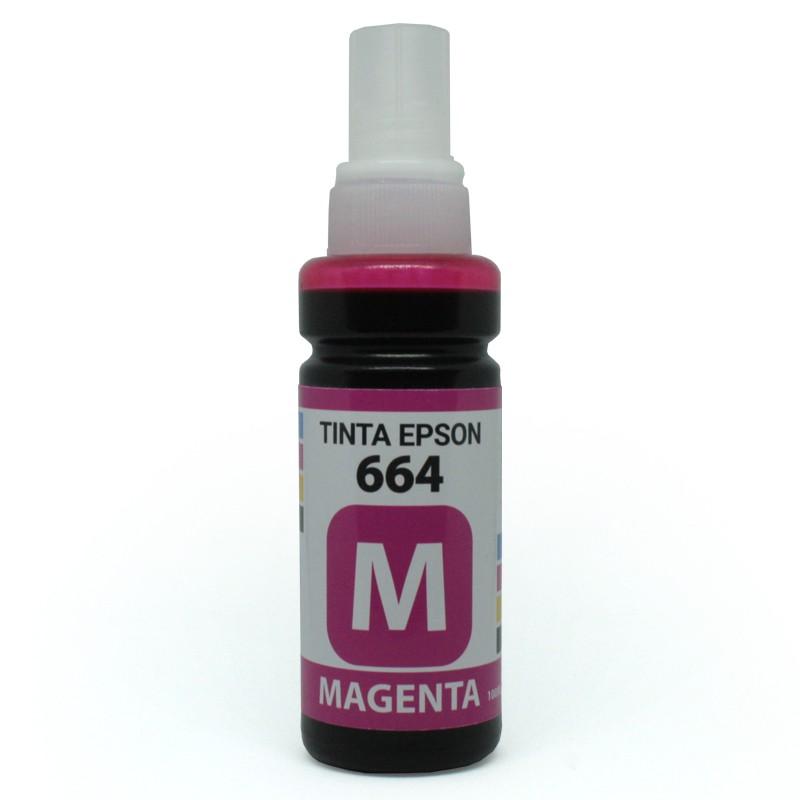 TINTA EPSON REFIL  644 MAGENTA 100 ML ML110 / L120 / L200 / L210 / L220 / L355 / L365 / L455 / L555 / L565 / L375 / L575 / L1300 / L395 / L495 / L396