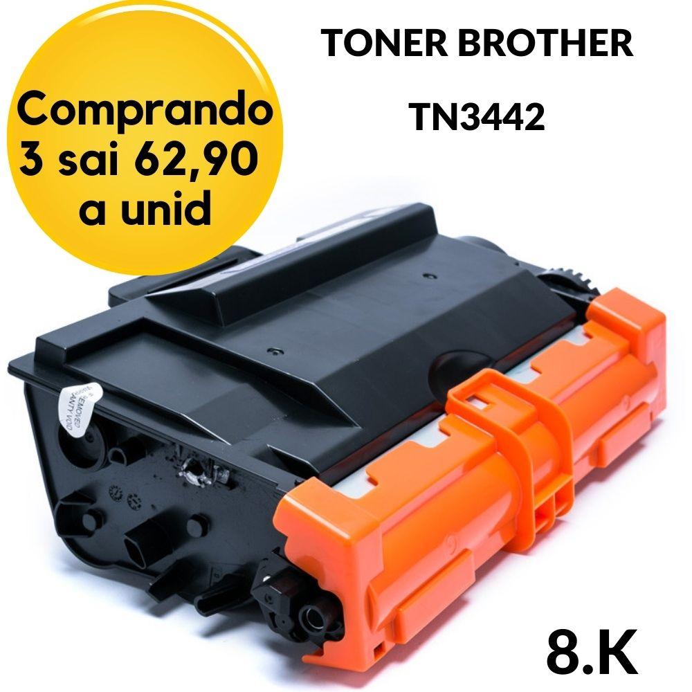 TONER BROTHER TN3442 TN-3442BR COMPATIVEL  HL-L6202DW HLL6202DW HLL6202 6202DW 6202 L6202, HLL5102DW HLL5102 5102DW 5102 L5102, HL-L5202DW HLL5202DW HLL5202 5202DW