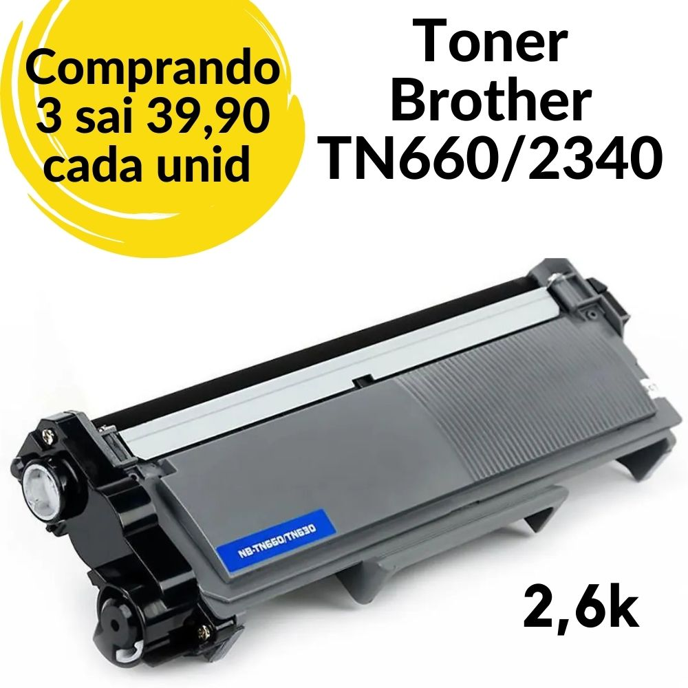 TONER BROTHER  TN660 TN-660 para Brother HL-L2340DW MFC-L2740DW Compatível