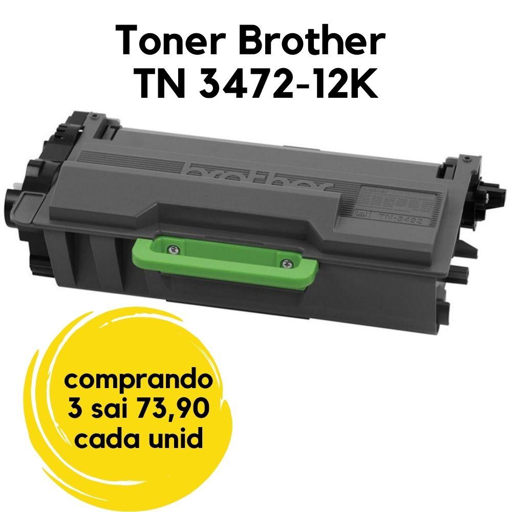 TONER BROTHER TN-3472-TN3472 TN-3472BR  COMPATIVEL HLL5102DW HLL5102 L5102 5102 5102DW, DCPL5652DN DCPL5652 L5652 5652 5652DN, DCPL5502DN DCPL5502 L5502 5502 5