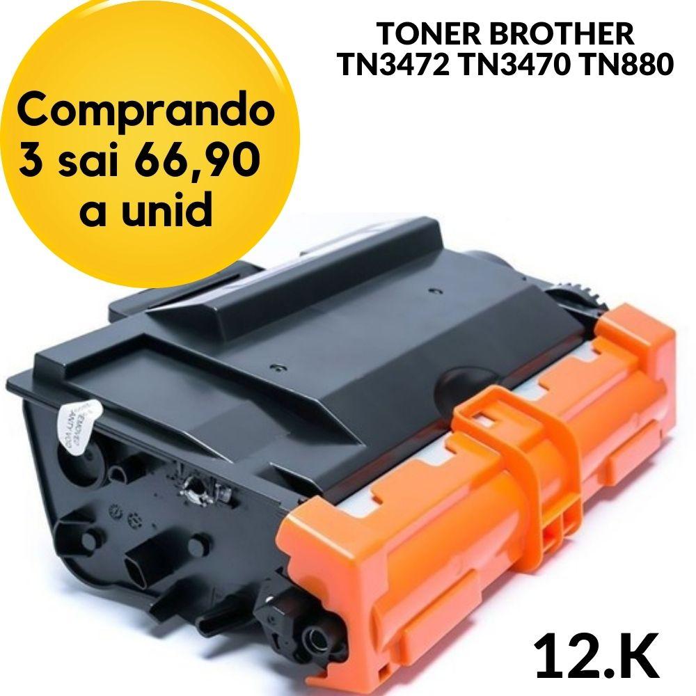 TONER BROTHER TN-3472-TN3472 TN-3472BR -TN3470 - TN880 - COMPATIVEL HLL5102DW HLL5102 L5102 5102 5102DW, DCPL5652DN DCPL5652 L5652 5652 5652DN, DCPL5502DN DCPL5502 L5502 5502 5