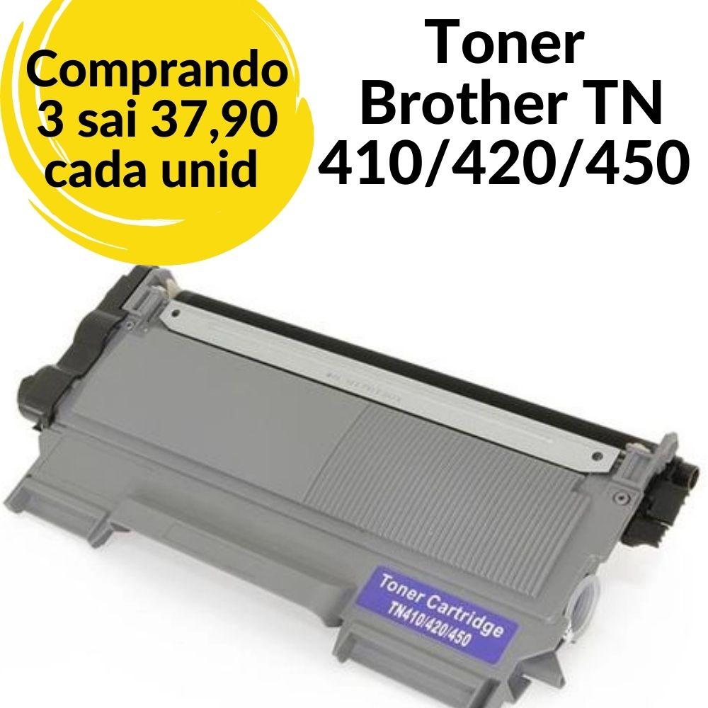 TONER BROTHER  TN 410 / 420/ 450 COMPATÍVEL -TN410-MFC-7360N, MFC-7460DN, MFC-7860DW, DCP-7060D, DCP-7065DN, HL-2220, HL-2230, HL-2240 series, HL-2270 Series, HL-2280DW