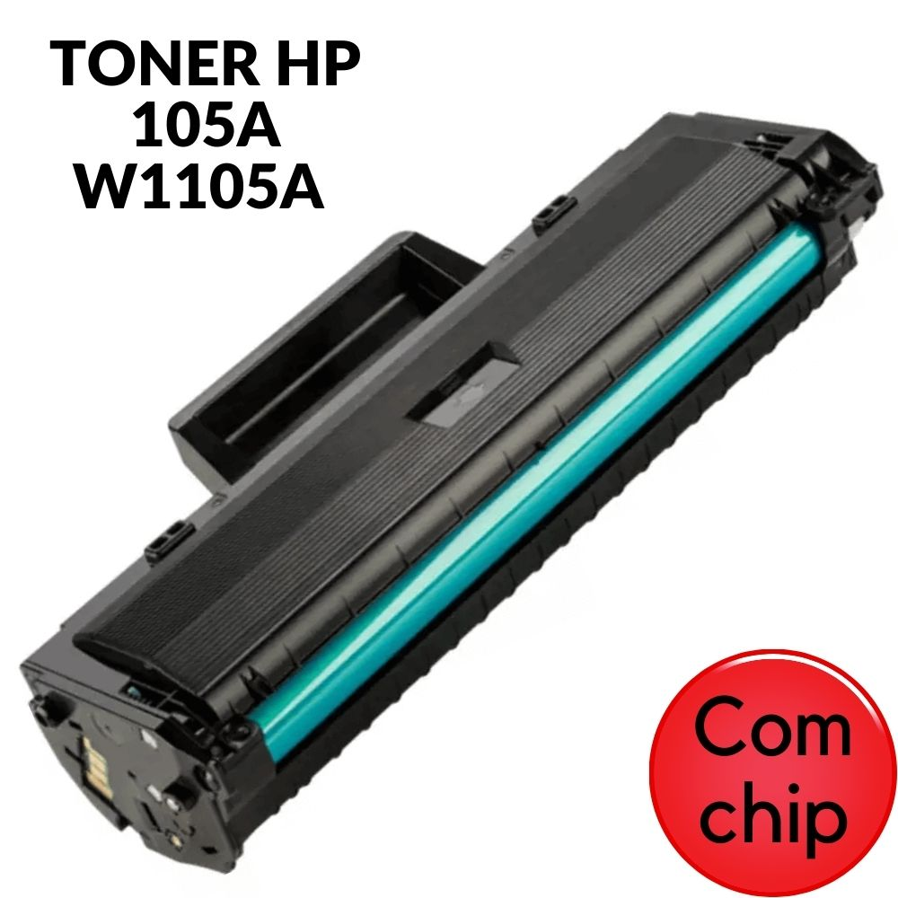 TONER HP 105A W1105A PRETO PARA 107A 107W MFP135A MFP135W 1K COM CHIP  COMPATIVEL HP 105 105A 105 HP105