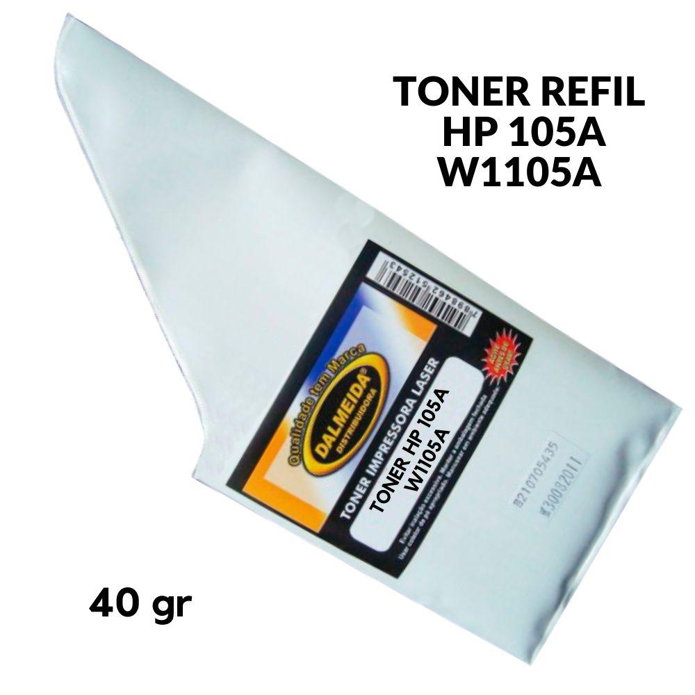 TONER HP 105A W1105A REFIL PRETO PARA 107A 107W MFP135A MFP135W 107A, 107,105,105A, 1105A HP105