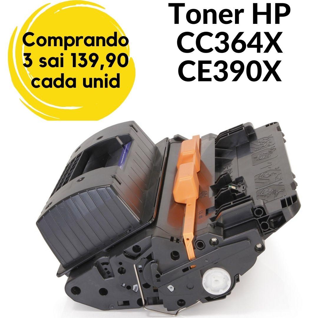 TONER HP 364X CC364X CE390X 364  390 90 64  24K P4015N P4015TN M620X  COMPATÍVEL- PRETO BLACK