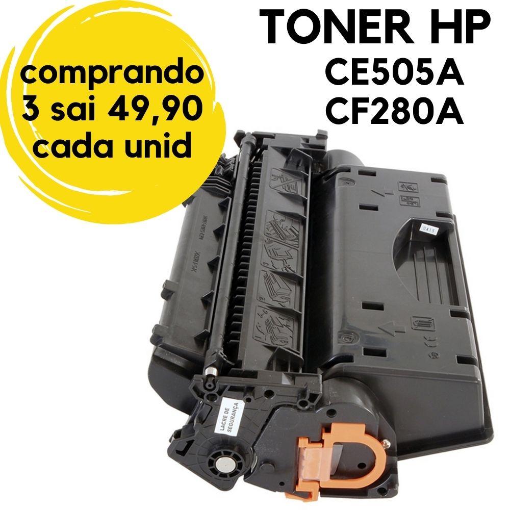 Toner HP 505A 505 CF280A 05A 80A 05 80 HP505 HP280  / M425 PRO 400 M401N M425DN M401DN M401DW P2035 P2035N P2050 P2055 / COMPATIVEL BLACK / 2.700