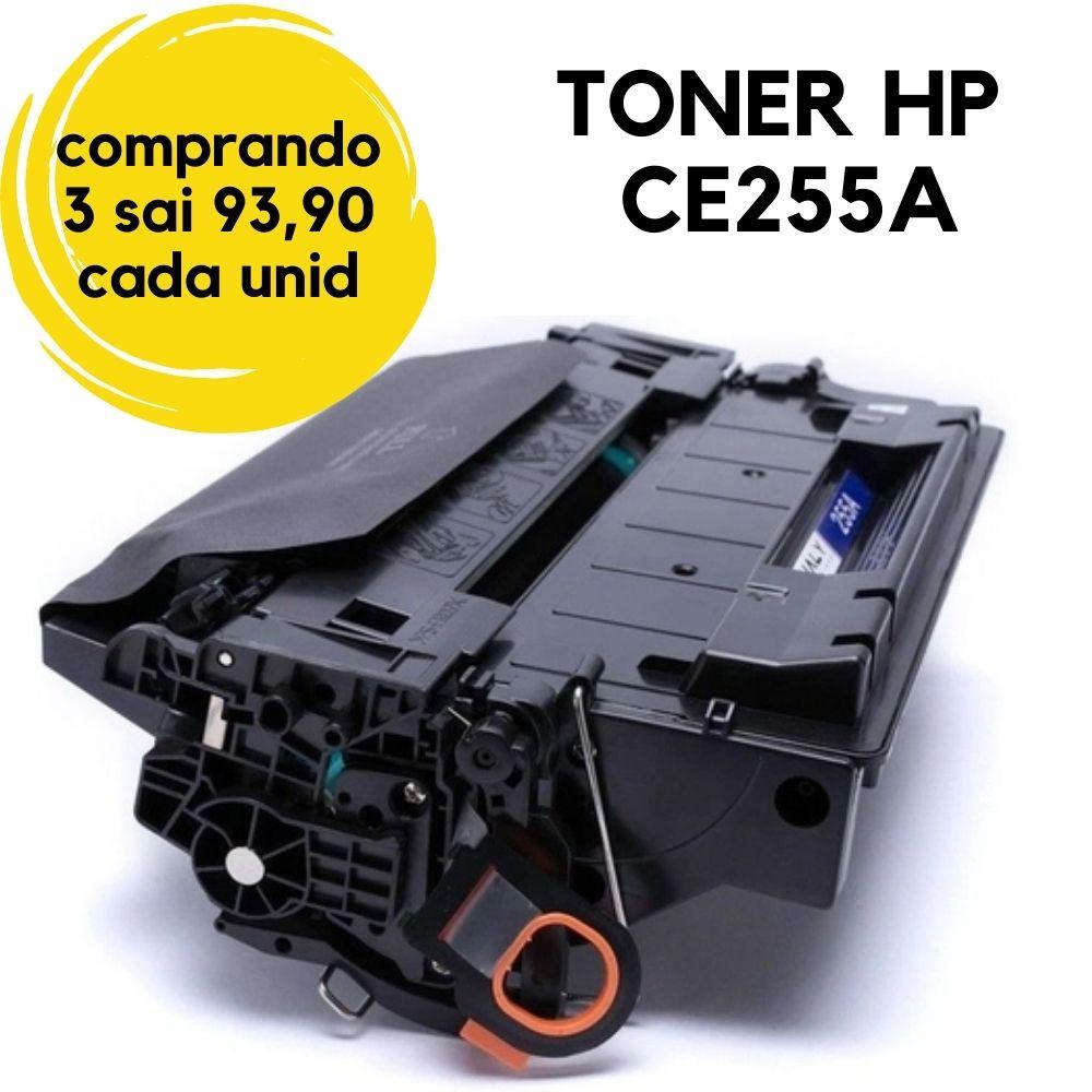 Toner HP CE255A CE255AB 55-HP55A-CE-255A, CE-255AB CE255 CE-255 255A, 55A COMPATÍVEL  | P-3015, P-3015N, P-3015DN, P-3015X, P-3016, Enterprise 500 M-525F M525 M-525.
