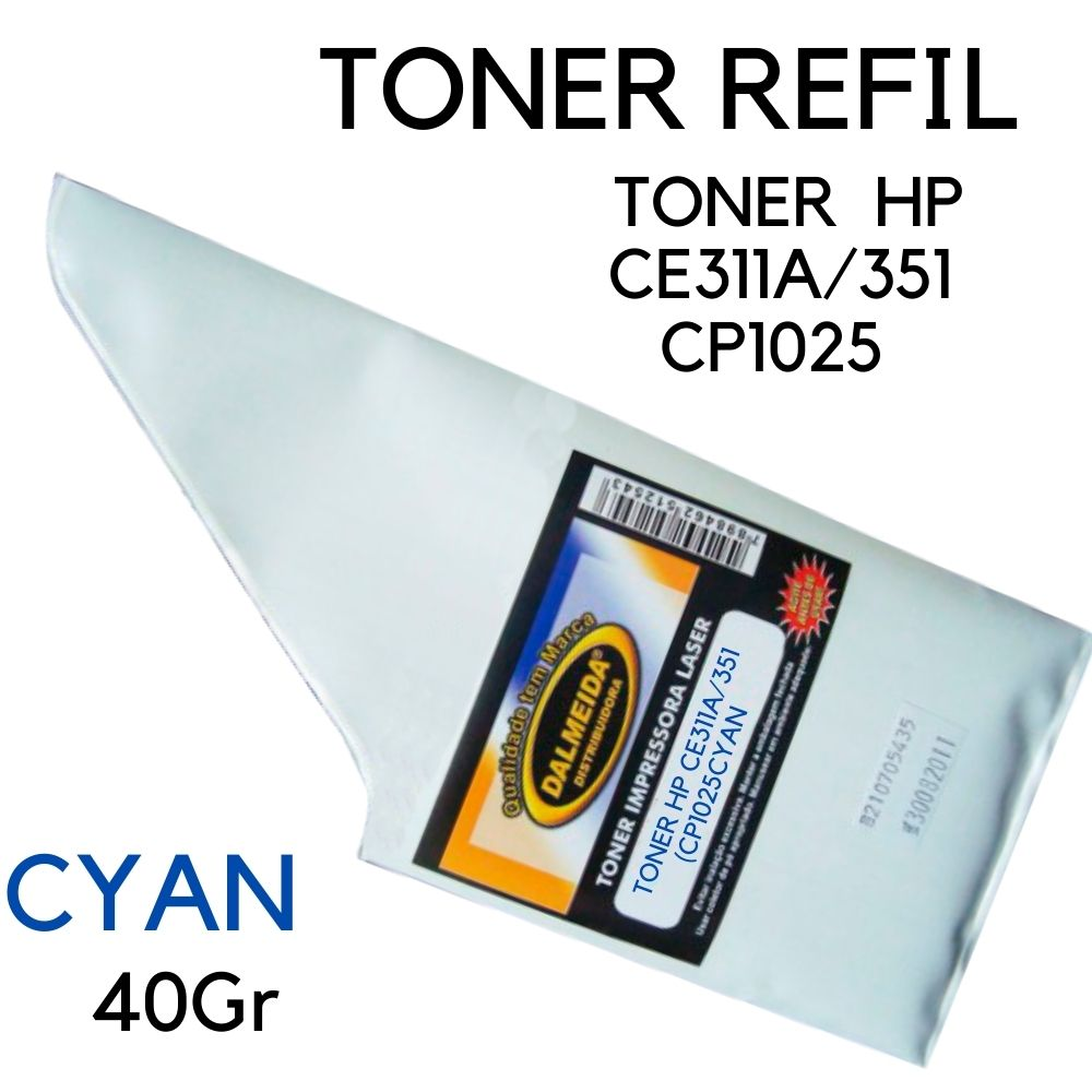 Toner HP CE311A/351 (CP1025) Ciano (Cya REFIL small bag  CE-311A CE-311 CE311 CE-311AB CE311AB CE 351 11A 126A  CP-1020, CP-1020WN, CP-1025, CP-1025NW, M-175, M-175A, M-175NW M175NW, M-275 M275