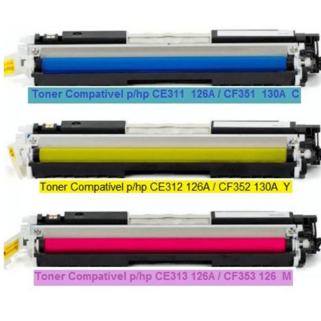 KIT TONER HP  CE311A CE312A CE313A 126A | CP1025 CP1025NW CP1020 COMPATIVEL