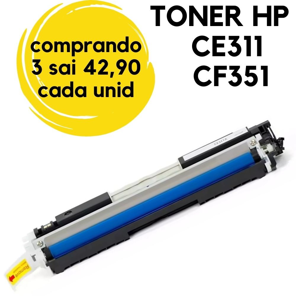 TONER HP CE311A  CF351 M176  HP311 CE311. Ciano 126A COMPATIVEL LaserjetCP-1025, CP-1025NW, CP-1020, CP-1020NW, M-175A, M275, M-275, M177