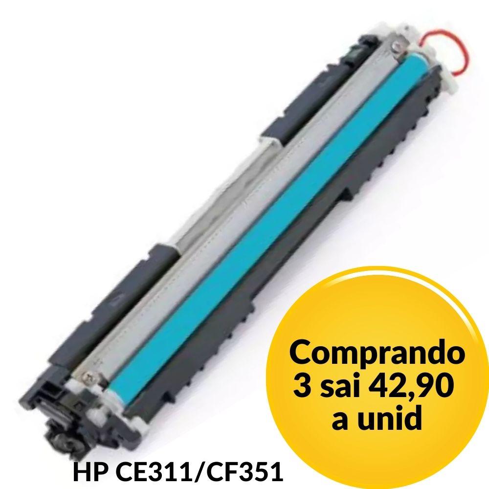 TONER HP CE311A  CF351 M176  HP311 CE311. Ciano 126A COMPATIVEL LaserjetCP-1025, CP-1025NW, CP-1020, CP-1020NW, M-175A, M275, M-275, M177