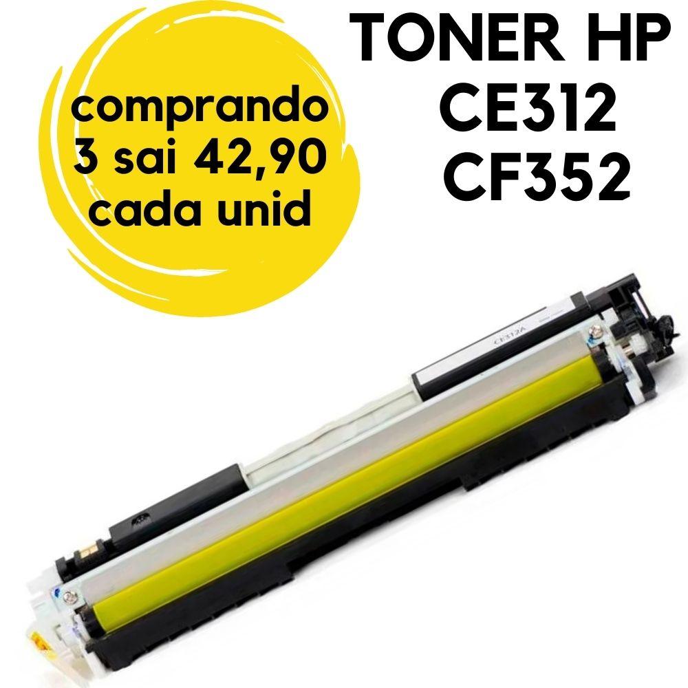 toner HP CE312A CF352 CE312 CE-312 CE-312AB. Amarelo 126A HP. a CP-1025, CP-1025NW, CP-1020, CP-1020NW, M-175A, M275, M-275, M176 M177