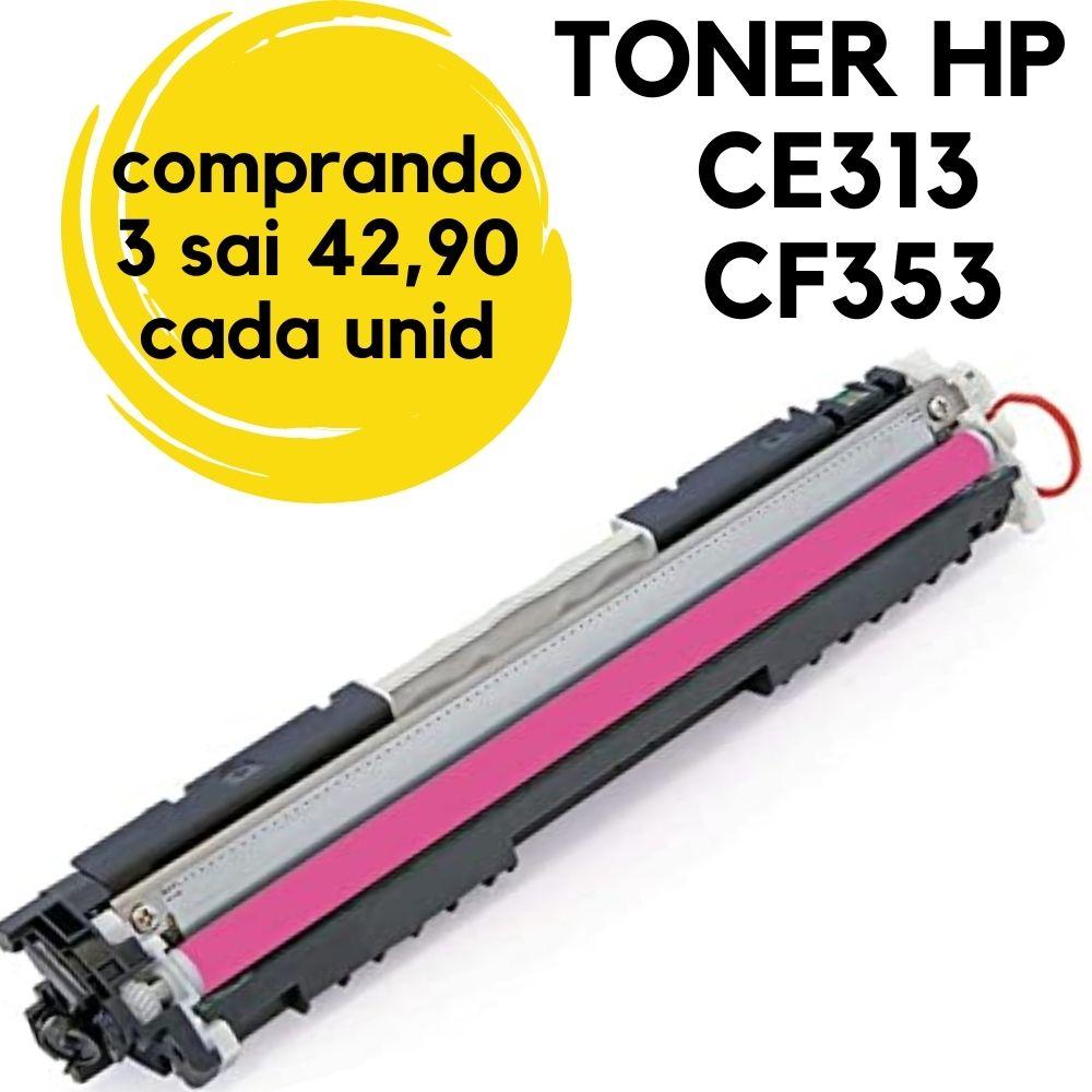 Toner HP CE313A CF353 126A Magenta,HP1025Compatível. HP LaserJet CP 1020, CP 1020WN, CP 1025, CP 1025nw, M 175, M 175A, M 175NW, M-275 M176 M177