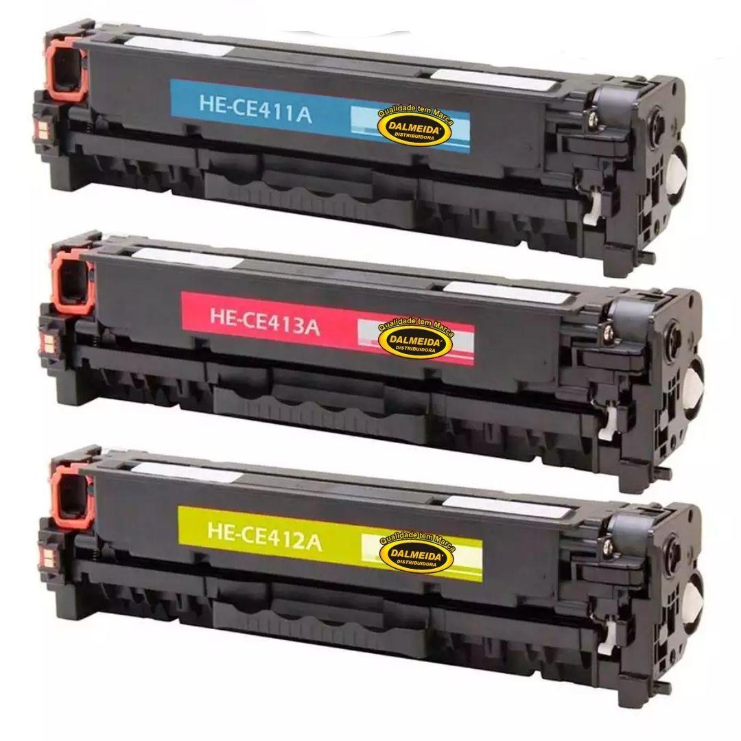 TONER HP CE410A- CE411- CE412- CE413- 305A -M351- M451 -M475 -M375- M451DW- M451DN- M451NW. 3.5k KIT COLORIDO