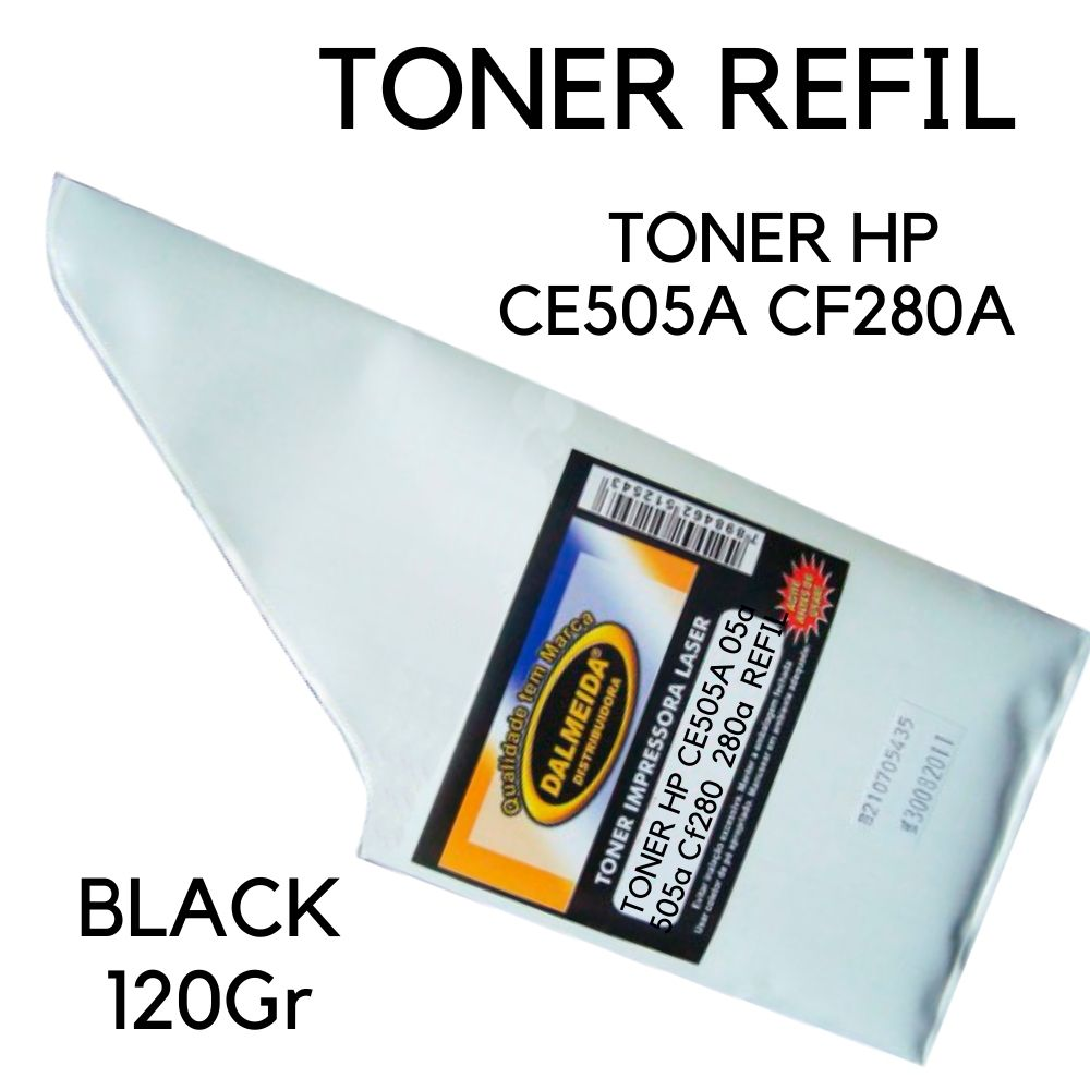 TONER HP CE505A CF280A 505 280 120 gr REFIL SMALL BAG