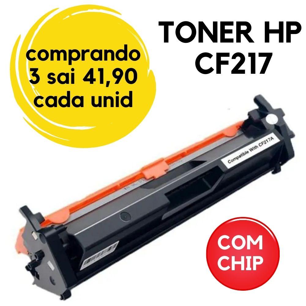 TONER HP CF217A (COM CHIP) M130 M101 M102 M130FW M130A M130FN M130NW M102A M102W |COMPATIVEL  217 -17A-17