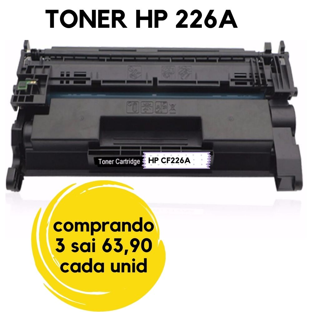 TONER HP CF226A CF226 26A CF226AB | M426DW M426FDW M402N M402DN M402DNE | COMPATIVEL (3.5 K) 226
