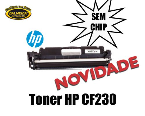 Toner HP CF230A CF230 230 30A M203 M227 M203DW M203DN M227FDW M227SDN SEM CHIP compativel