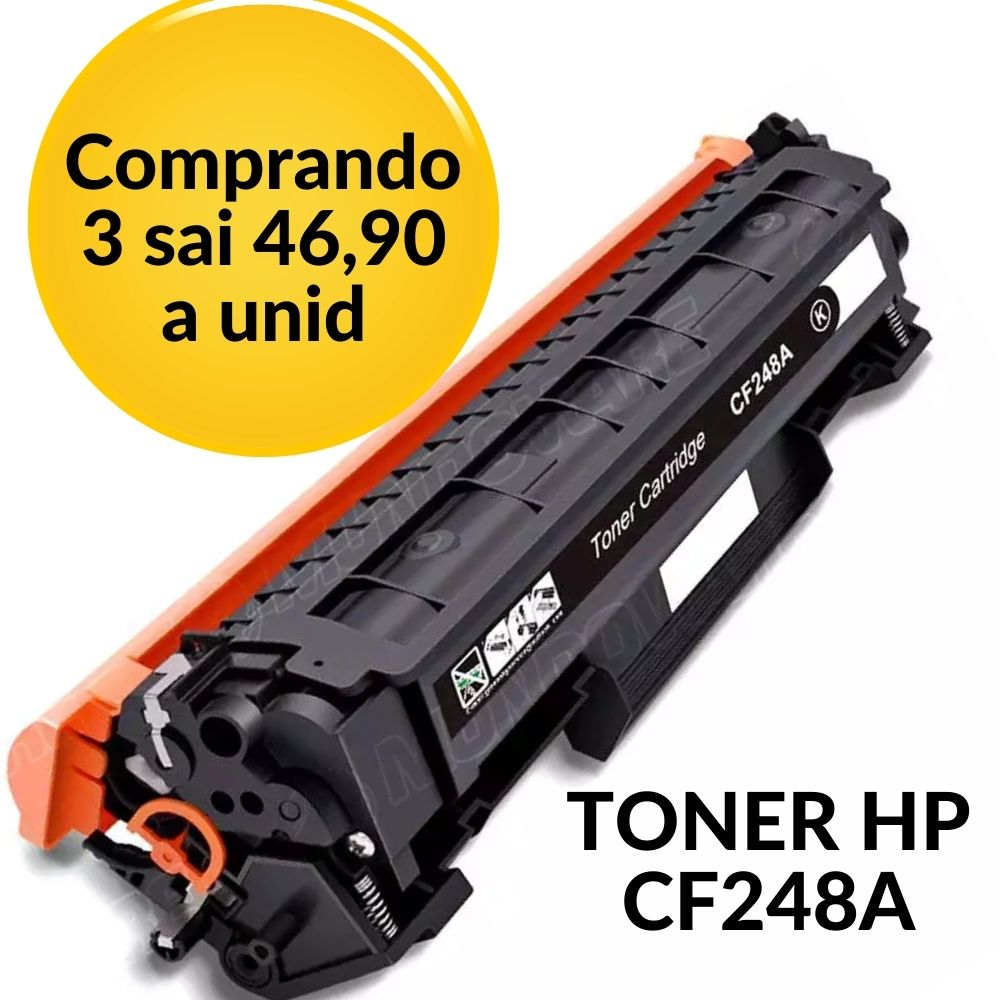 TONER HP CF248A 48A | 15 M15 M15A M15W 28 M28 M28A M28W (COM CHIP) COMPATIVEL
