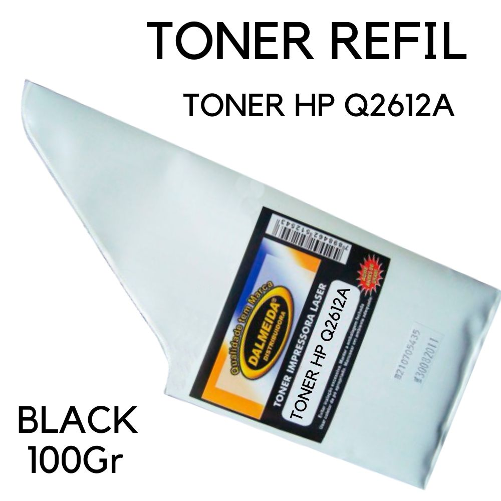 TONER HP Q2612A 2612A 12A |REFIL SMALL BAG 1010 1012 1015 1018 1020 1022 3015 3030 305 GRAFICO
