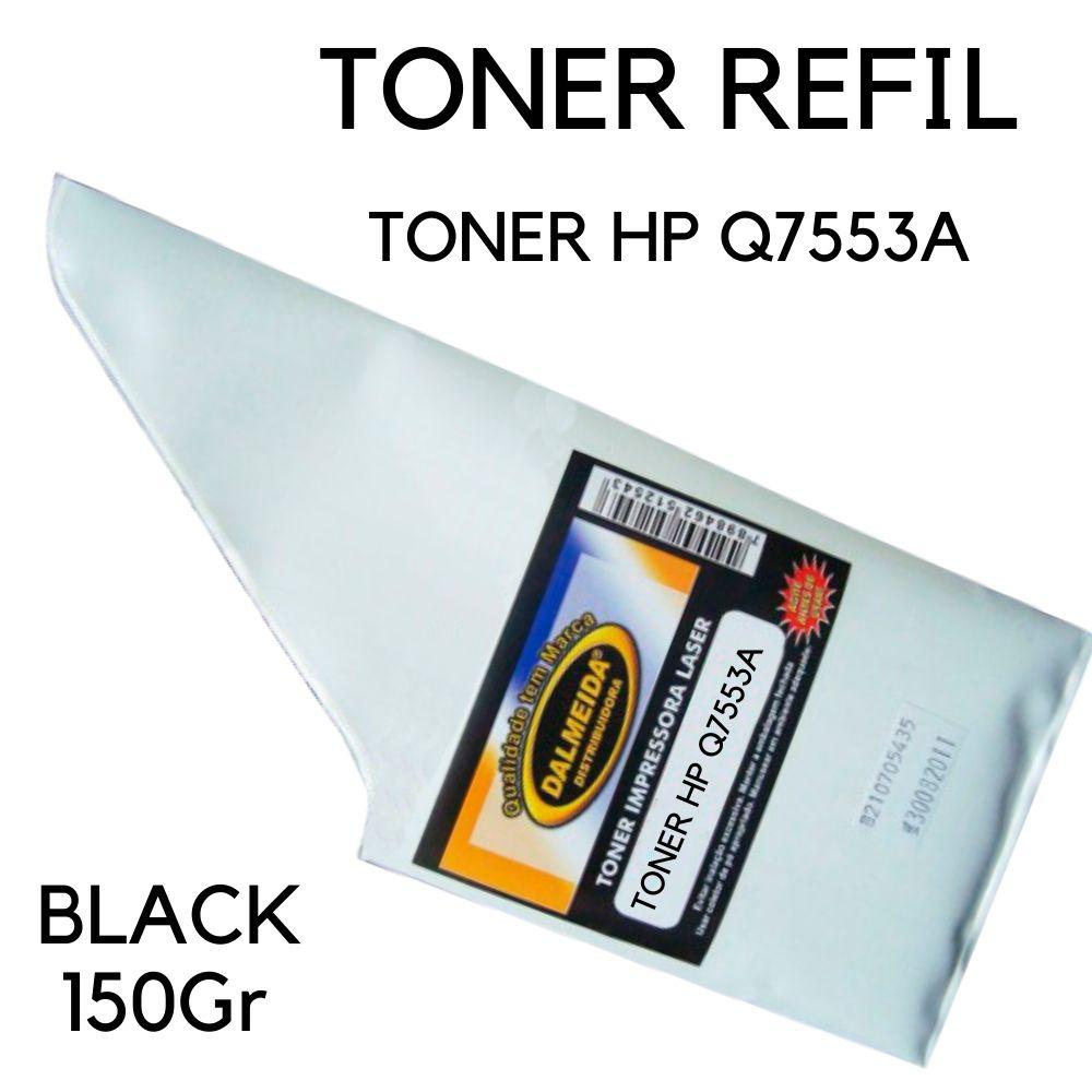 Toner HP Q7553A | 53A | P2014 | P2015 150g  REFIL SMALL BAG HP P2014 | P2015 | P2015d | P2015dn | P2015n | P2015x | M2727nf MFP | M2727 MFP.