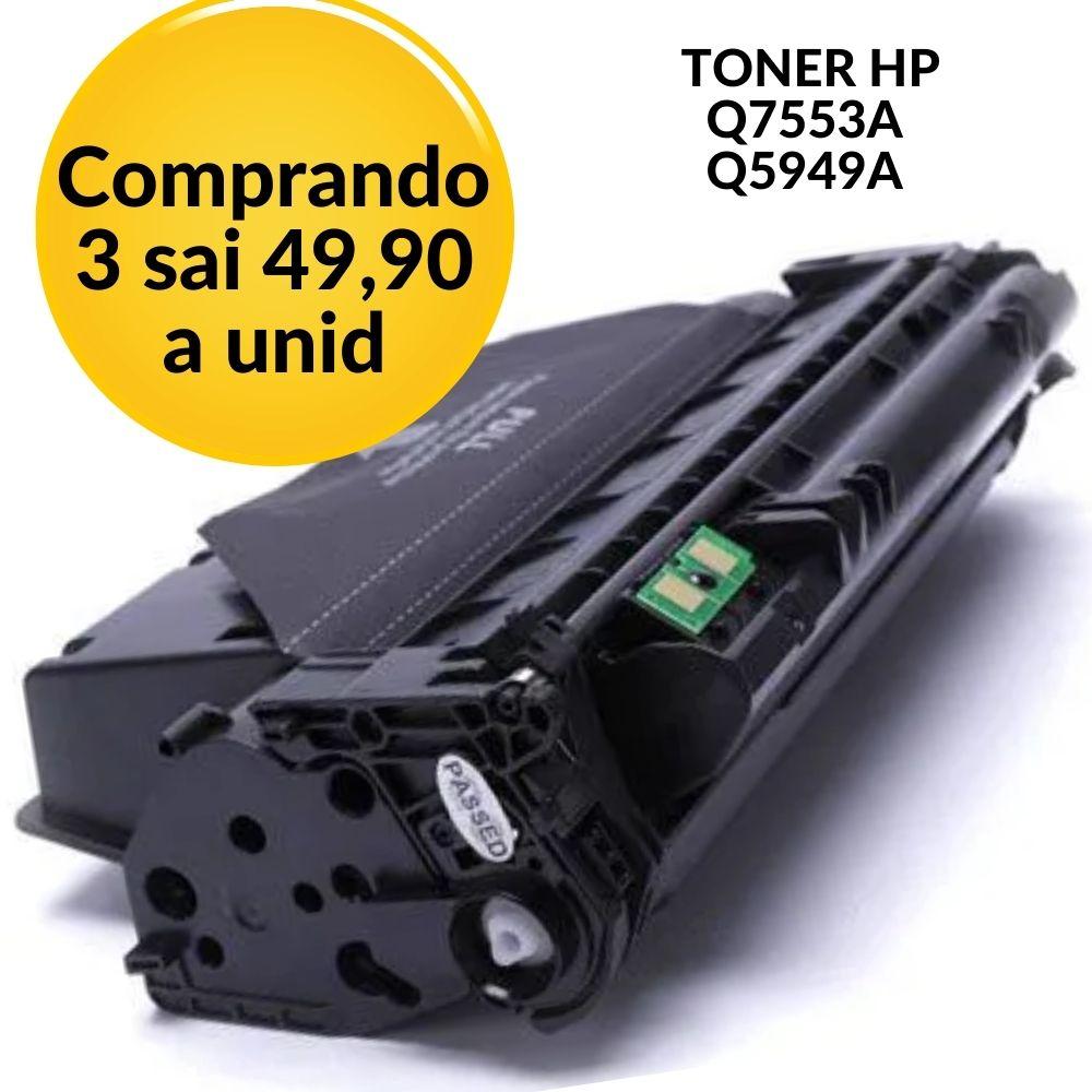 TONER HP Q7553A | Q5949A / 7553 / 5949 / hp53 / hp49  COMPATÍVELHP P2014;HP P2015;HP P2015D; HP P2015DN;HP P2015N;HP P2015X;HP M2727NF;HP M2727 MFP;HP Q7553A;HP 1160;HP 1320;HP 3390 | 3392;HP Q5949A;H