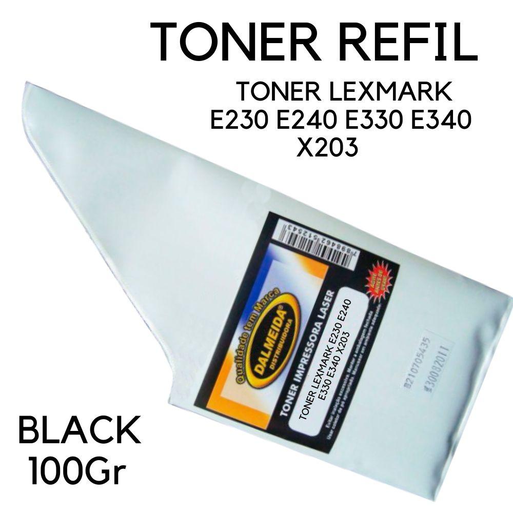 TONER LEXMARK E230 E240 E330 E340 X203 DELL 1700 REFIL 100 GR SMALL BAG