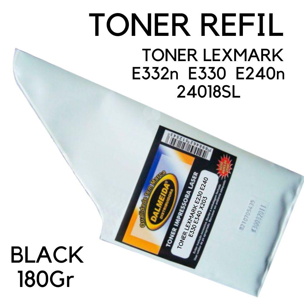 TONER LEXMARK E332n  E330  E240n  24018SL 180gr REFIL SMALL BAG