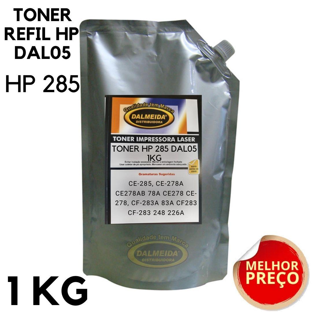 TONER REFIL HP 285-283-278 DAL05 HP ESPECÍFICO 1 KG BAG