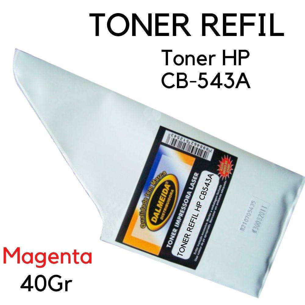 TONER REFIL HP CB543A 543A MAGENTA SMALL BAG | CP1215 CP1510 CP1515 CP1518 M204A M205A CM1312 G. BRILHANTE X
