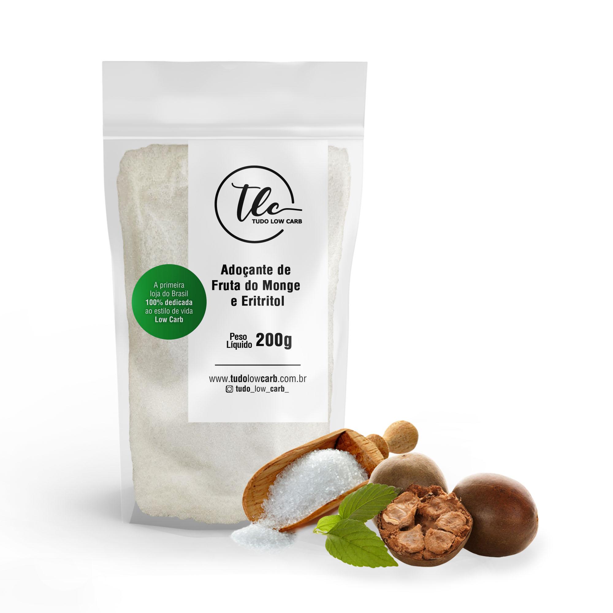 Adoçante de Fruta do Monge e Eritritol (Monk Fruit + Erythritol) 200g  - TLC Tudo Low Carb