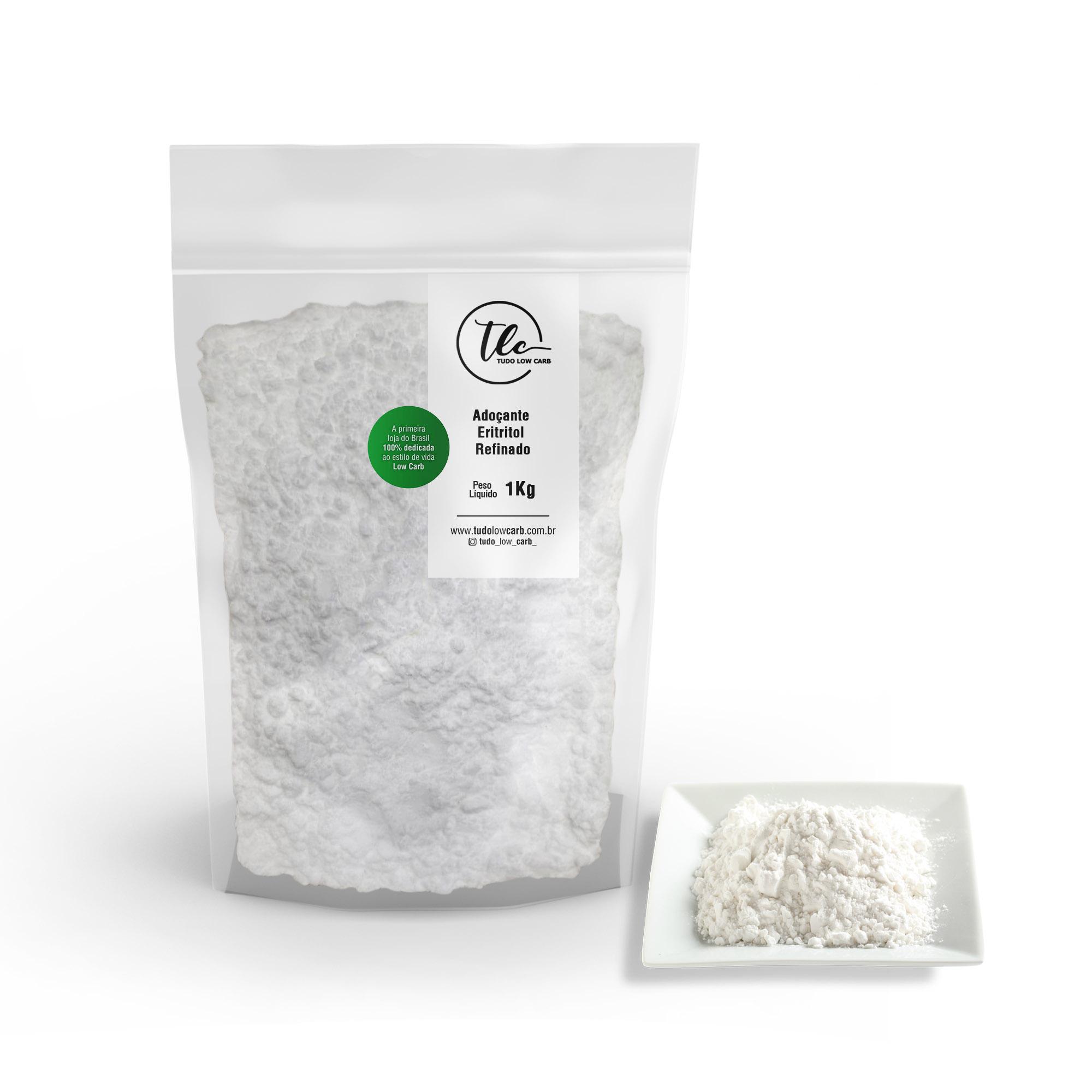 Adoçante Eritritol Refinado 1 kg  - TLC Tudo Low Carb