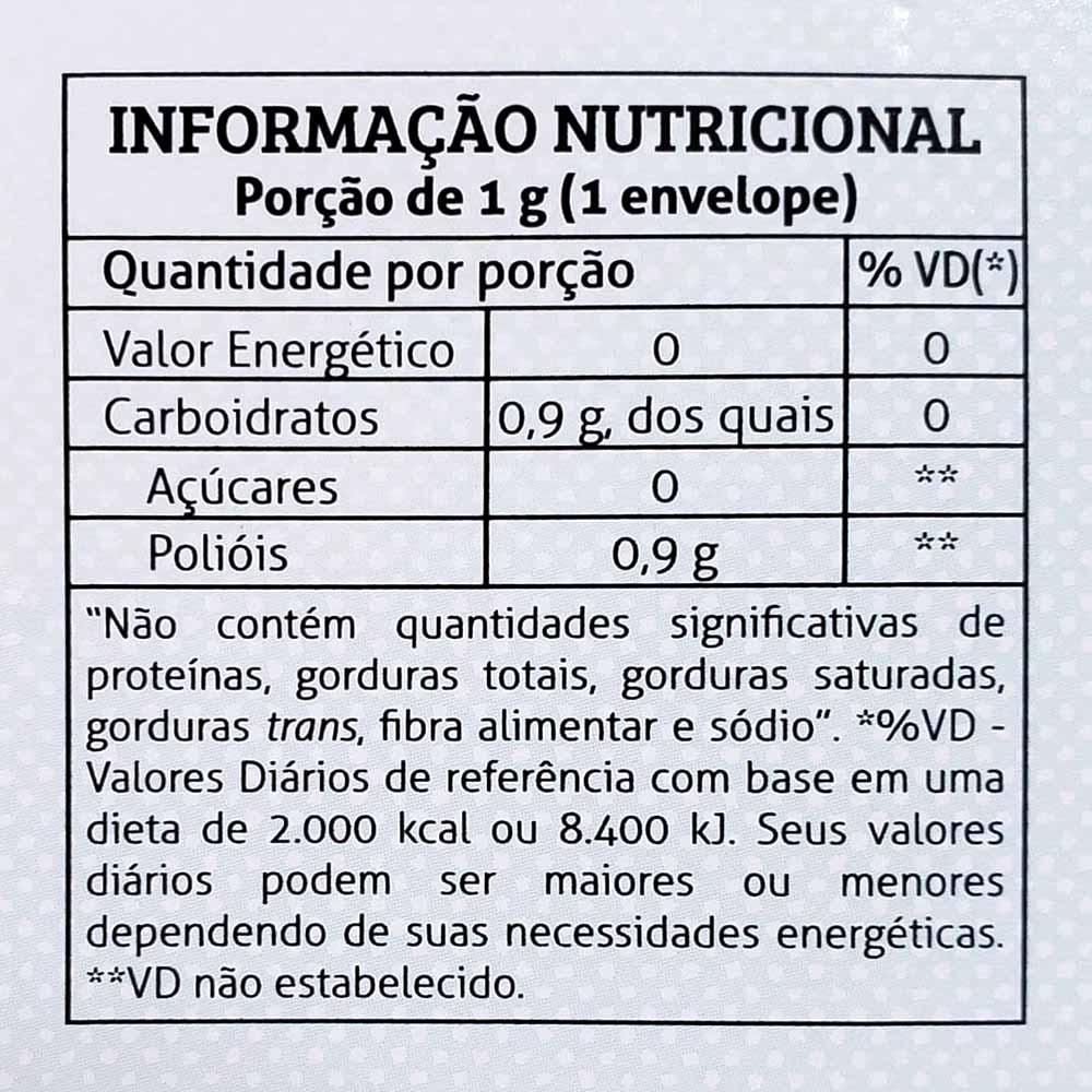 Adoçante Eritritol + Stevia 70 Sachês 1g Magrins  - TLC Tudo Low Carb
