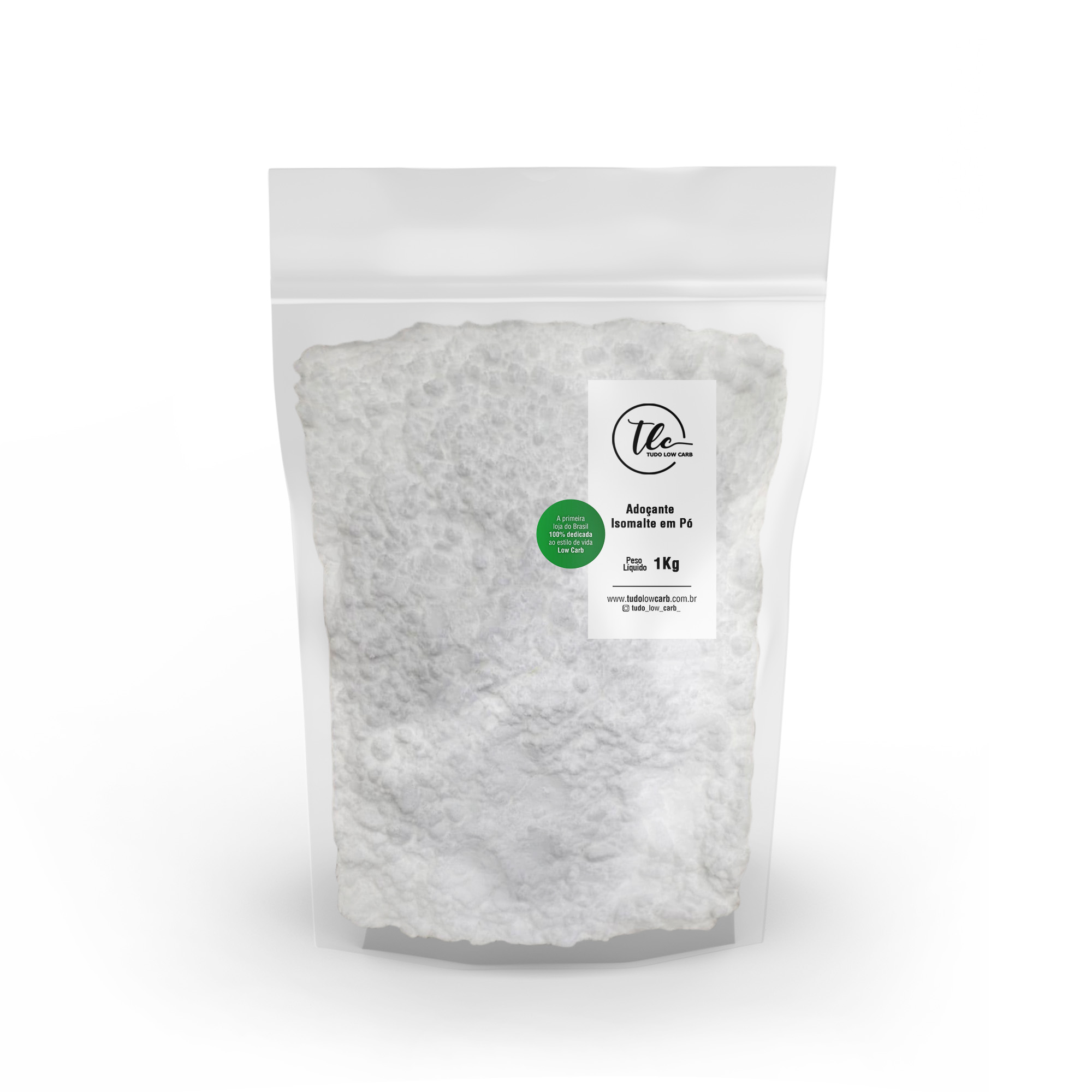Adoçante Isomalte em Pó 1 kg  - TLC Tudo Low Carb