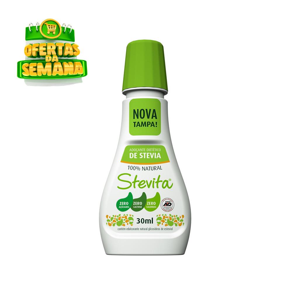 Adoçante Stevia Líquido Stevita 30ml  - TLC Tudo Low Carb