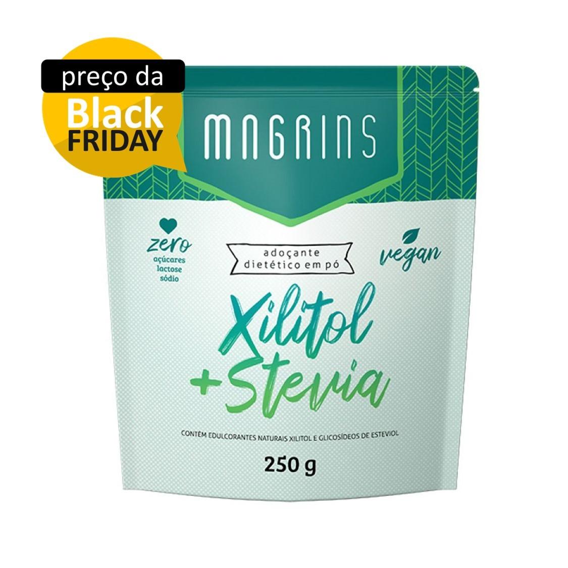 Adoçante Xilitol + Stevia Pouch Magrins 250g  - Tudo Low Carb