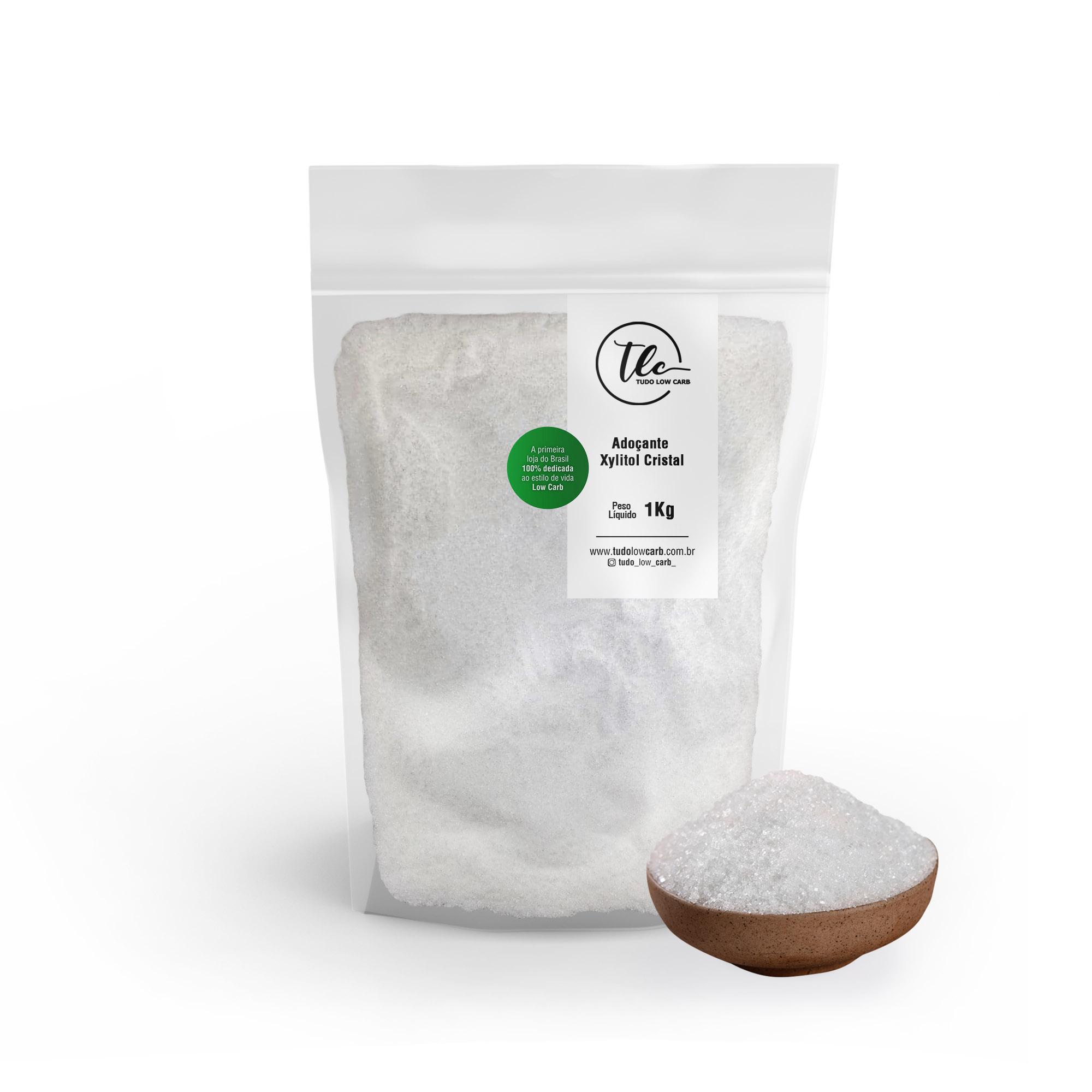 Adoçante Xylitol (Xilitol) Cristal 1 kg  - TLC Tudo Low Carb
