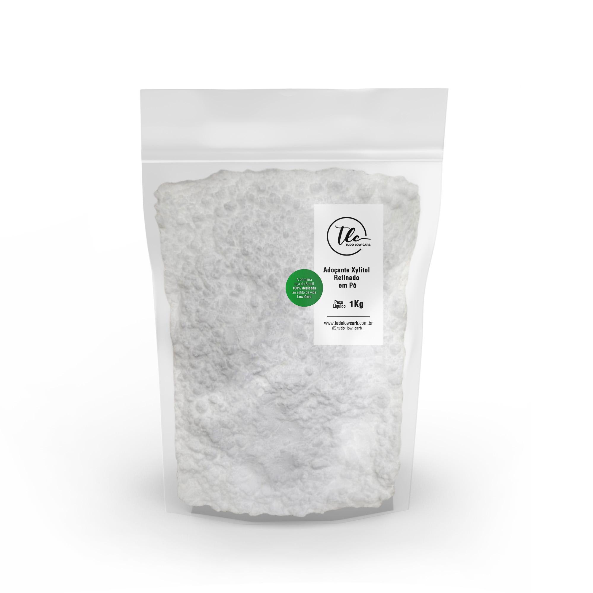 Adoçante Xylitol (Xilitol) Refinado Pó 1 kg  - TLC Tudo Low Carb