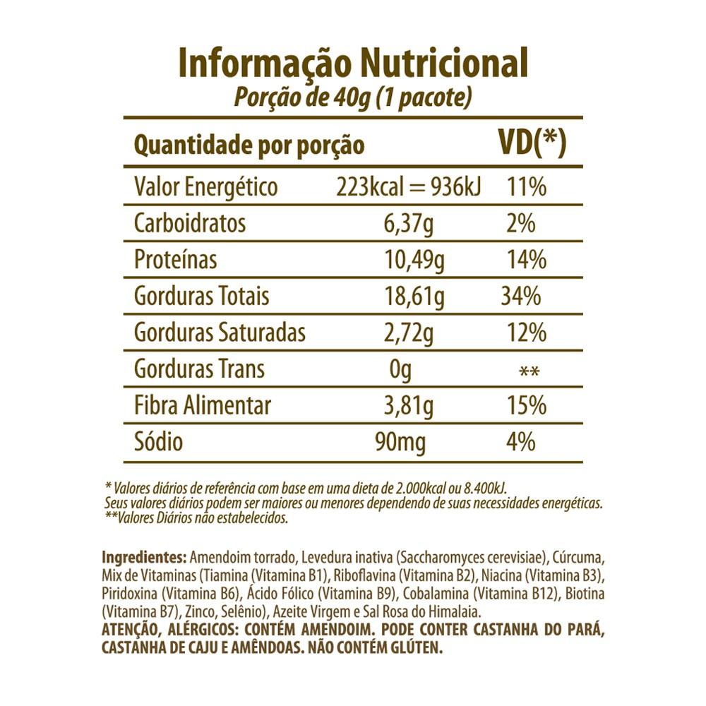 Amendoim com Levedura Veg Snack Eat Clean 40g  - Tudo Low Carb