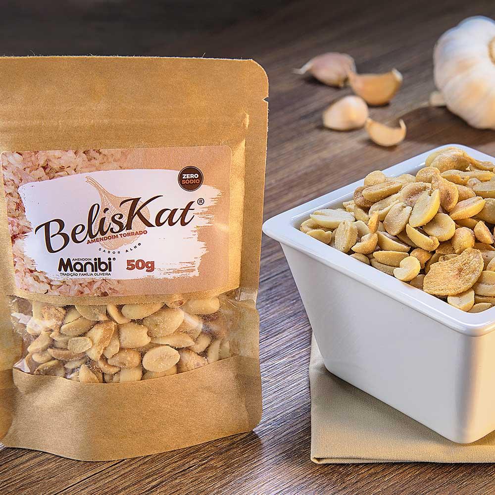 Amendoim Torrado sabor Alho BelisKat 50g  - Tudo Low Carb