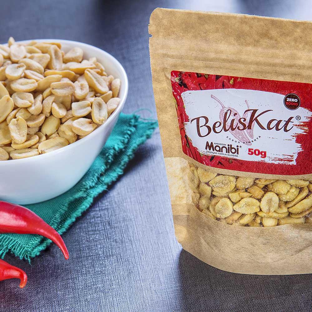 Amendoim Torrado sabor Pimenta BelisKat 50g  - TLC Tudo Low Carb