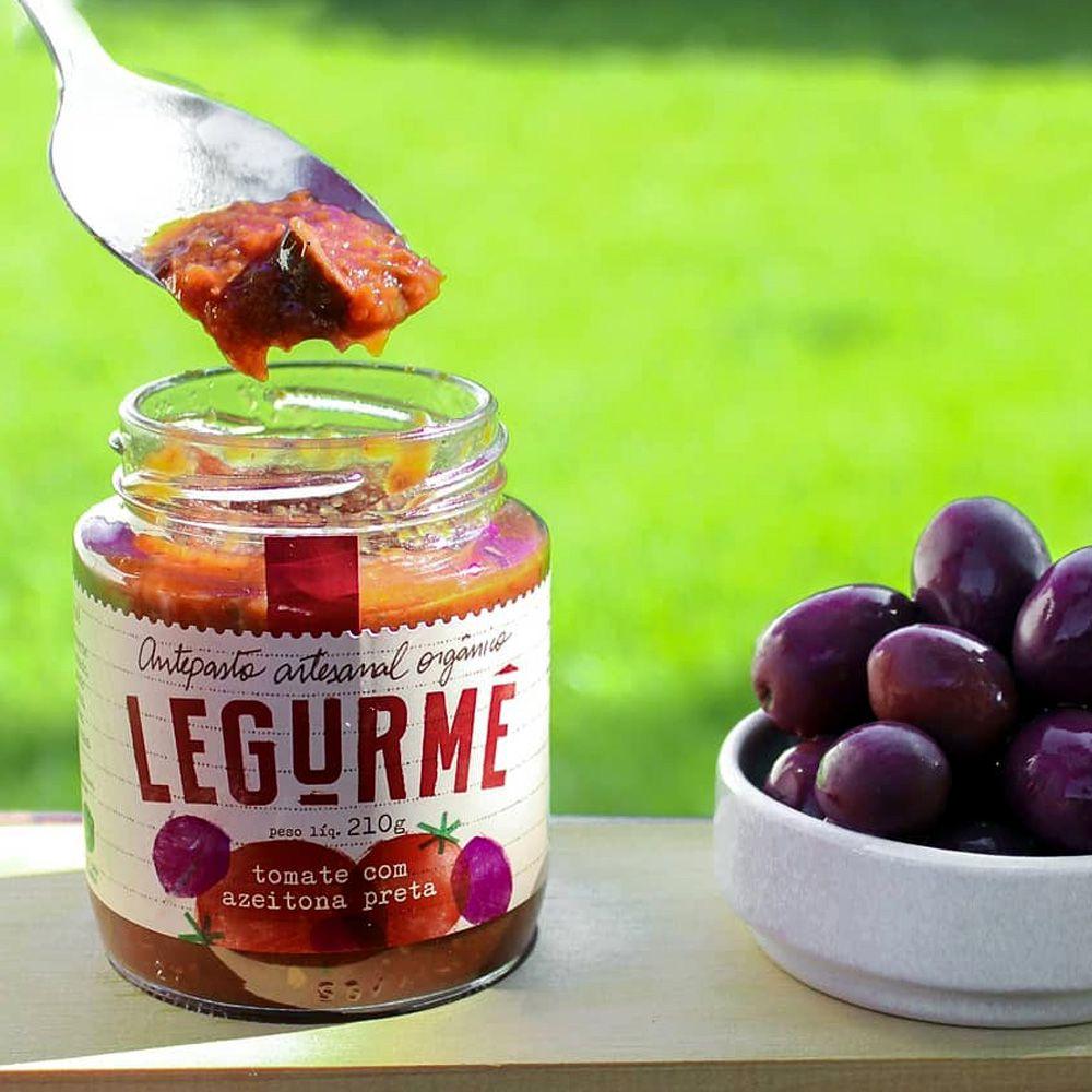 Antepasto Tomate com Azeitona Preta Orgânico Legurmê 210g  - Tudo Low Carb